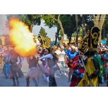 Carnaval 2015 san pedro cholula primer dia, 21 de febrero