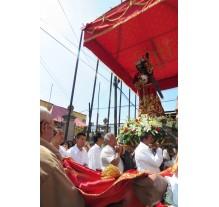Via Crucis en San Pedro Cholula, 2015.