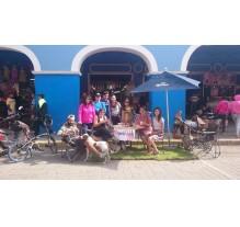 Cholula en Bici ocupa la vía pública para tomar café